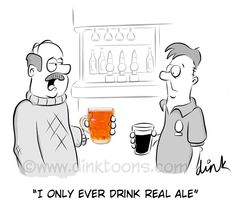 REAL ALE cartoon by freelance cartoonist Chris Williams