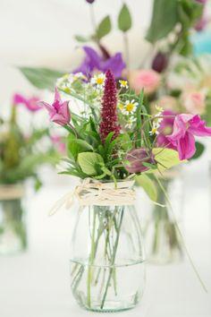 flowers in jars bottles image by Debs Ivelja Photography http://www.debsivelja.com/