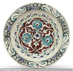 IZNIK CERAMIC, 17 > (Turkey)  Title : DISH  Date : ca 1630  DISH sold by Christie's, London, on Tuesday, October 05, 2010
