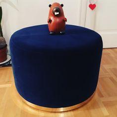 #ruthandjoanna #ottoman #pall #blue #leatherbeaver #ruthjoanna #velvet #cara