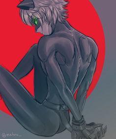Chat Noir bound. Fanservice. (Miraculous Ladybug)