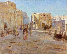 Etienne DINET (1861-1929) Une place à Bou-Saâda – 1894