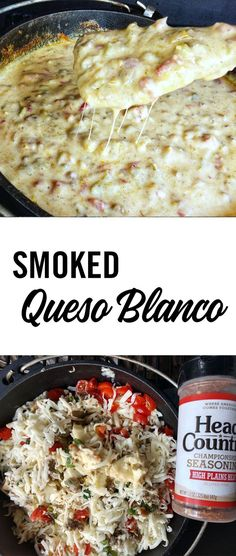Smoked Queso Blanco with Head Country seasoning is going to bring it to any meal you serve this with. The smoked flavor makes it a great pair for any BBQmeat. Add this to your menu for your next cookout! Best Bbq Recipes, Fun Easy Recipes, Grilling Recipes, Mexican Food Recipes, Easy Meals, Smoker Recipes, Dip Recipes, Favorite Recipes, Budget Recipes