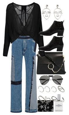 """""""Untitled #10244"""" by nikka-phillips ❤ liked on Polyvore featuring Chloé, Tome, MANGO, Yves Saint Laurent, Modern Vice and ASOS"""