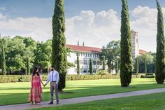 We love this beautiful engagement session at Rice University in Houston, Texas