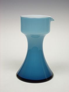Holmegaard 'Carnaby' blue cased glass pitcher by Per Lutken