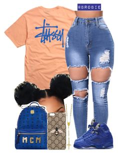 """"""": 4O6"""" by brobie ❤ liked on Polyvore featuring Stussy, MCM, NIKE and Gucci Baddie Outfits Casual, Swag Outfits For Girls, Teenage Girl Outfits, Cute Swag Outfits, Cute Comfy Outfits, Teenager Outfits, Dope Outfits, Teen Fashion Outfits, Retro Outfits"""