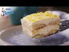 Pastel de bizcocho con crema de limón - Postres La Lechera - YouTube Strudel, Pudding, Banana, Flan, Desserts, Chocolate, Youtube, Pastel Home, Culinary Arts