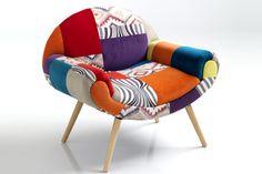 Contemporary Living Poltrona Kaleidos-F Yellow Armchair, Swivel Armchair, Modern Armchair, Sofa Chair, Armchairs For Sale, High Back Armchair, Wayfair Living Room Chairs, Salon Interior Design, Chairs