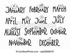 Αποτέλεσμα εικόνας για months calligraphy
