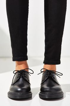 Martens 1461 Mono Oxford at Urban Outfitters today. We carry all the latest styles, colors and brands for you to choose from right here. Dr. Martens, Doc Martens Oxfords, Oxford Shoes Outfit, New Shoes, Women's Shoes, Women Oxford Shoes, Shoes Men, Shoes Sneakers, Yeezy Shoes