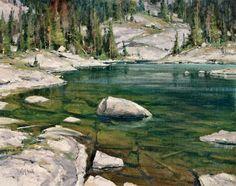 Pine Creek Lake: oil, 16 x 20 in. ($5,900)