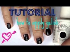 Nails | How to Apply Gelish Gel Polish in Bella's Vampire Tutorial