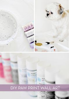 How to: Easy DIY Paw Print Wall Art