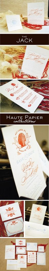 Haute Papier wedding invites and coasters. For more wedding invites, visit onoccasionscincy.com or drop by the store!