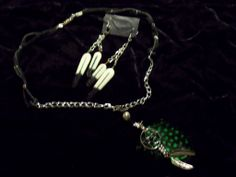 leather feather set