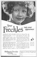 Stillman's Freckle Cream 1924 Ad Picture