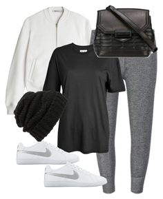"""Untitled #7270"" by katgorostiza ❤ liked on Polyvore featuring T By Alexander Wang, Zoe Karssen, NIKE, Alexander Wang and Leith"