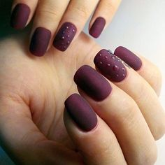 Caviar nails, Dark autumn nails, Dark shades nails, Droplet nails, Evening dress nails, Maroon nails, Matte nails, Mysterious nails