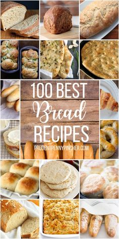 100 Homemade Bread Recipes 100 Homemade Bread Recipes 100 Best Homemade Bread Recipes Try one of these mouth-watering fresh baked bread recipes. From sourdough bread to homemade biscuits, there are 100 different bread recipes to choose from. Fresh Baked Bread Recipe, Best Homemade Bread Recipe, Homemade Biscuits, Homemade Breads, Bread Machine Recipes, Bread Recipes, Baking Recipes, Healthy Recipes, Easy Bread