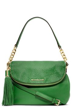MICHAEL Michael Kors 'Bedford Tassel - Medium' Convertible Leather Shoulder Bag available at #Nordstrom