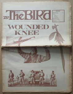 """""""Wounded Knee,"""" The Great Speckled Bird, Atlanta, Georgia, March 26, 1973."""