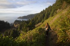 Neahkahnie Mountain, Oregon Coast Range To reach the summit of this incredible headland mountain just north of Manzanita, you have multiple options; all of which are breathtakingly beautiful. You can begin hiking at the South Trailhead for an easy 3-mile trek, start at the North Trailhead for a 5-mile hike, or you can take the 8-mile Neahkahnie Mountain Loop Trail. No matter which you choose, the journey - and especially the endpoint - will drop your jaw.