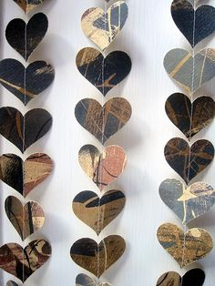 stitched hearts- could make with almost anything.....but the artists story is neat