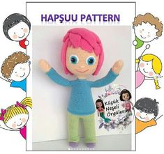 Amigurumi Pillow Knitting Doll Making - Crochet Toys Patterns, Stuffed Toys Patterns, Knitting Patterns, Crochet Baby, Free Crochet, Amigurumi Toys, Knitting Socks, Hand Embroidery, Free Pattern