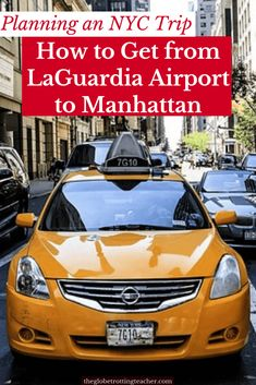 Planning a trip to NYC and need to get from LaGuardia to Manhattan? This guide (written by a local) has the info you need for a smooth NYC airport transfer. Travel Usa, Travel Tips, Travel Hacks, Book Cheap Hotels, Traveling Teacher, Nyc Hotels, Us Travel Destinations, New York City Travel, Travel Information