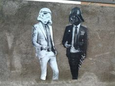 Vader and Stormtrooper, Street Style