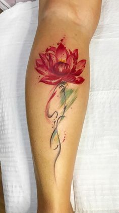 Beautiful looking and with a rich symbolism behind, lotus tattoos are absolutely gorgeous. Here you'll find everything you need to know about a lotus tattoo and some awesome imagery for inspiration. Bird Ankle Tattoo, Lotus Flower Tattoo Wrist, Lotus Tattoo Design, Flower Tattoo Shoulder, Floral Tattoo Design, Tattoo Designs, Lotus Tattoo On Back, Water Lily Tattoos, Lily Flower Tattoos