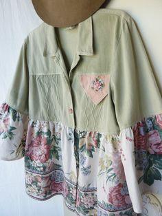 Romantic boho Jacket Upcycled vintage jacket by ButterCatCo