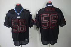 Nike NFL Lights Out #56 Black Lawrence Taylor Elite New York Giants Jersey    $24