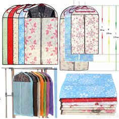 Non-Woven Fabric DustProof Cover Garment Clothes Suit Dress Storage Receive Bag #Unbranded
