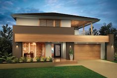 Home design gallery including facades, interior design ideas and Modern House Facades, Modern Architecture, House Front Design, Modern House Design, Dream Home Design, Home Design Plans, Model House Plan, Interior Exterior, Interior Design