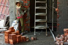 Day 70, Exchange, Worker, Bricks, Construction Site, Maybank, Phnom Penh, Cambodia