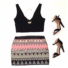 Big night out? We've got you covered with our Skylar top and Carsianny skirt!  www.Escloset.com ! Xo
