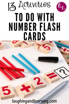 Here are 13 activities to extend math learning with number flash cards! Because the best way to use flash cards are as complements to engaging activities! Printable Puzzles, Printable Activities For Kids, Activities To Do, Educational Activities, Math Flash Cards, Learning Numbers, Math For Kids, Kids Cards, Preschool Activities
