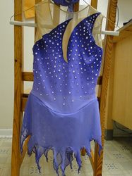 Custom Purple/Lilac Competition Figure Skating Dress. Airbrushed with lots of Swarovski Crystals. www.sk8gr8designs.com