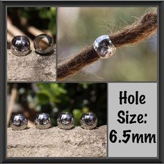5 Stainless Steel cut DREADLOCK BEADS 6.5mm Hole Dread *NEW* Hair Beads on Etsy, $11.00 AUD