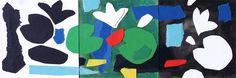 """andrea mattiello """"Sognare a colori""""acrilico, pastello e collage su cartone vegetale cm 30x10 (3 pannelli 10x10); 2015#art #artistaemergente #emergingartist #collage #paper #cardboard"""