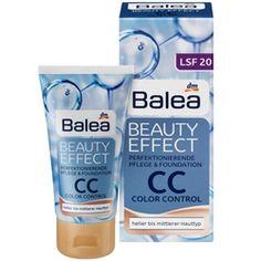 Balea Beauty Effect CC Cream - perfekte Ausstrahlung dank eines glatten, ebenmäßigen Erscheinungsbildes, wo kleine Unebenheiten abgedeckt sind.Zusätzlich enthält das Produkt LSF 20 und ist vegan 5,95 € für 50 ml #BaleaBadvergnügen