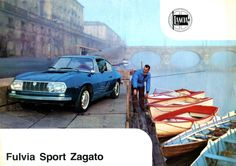 Fulvia Sport Zagato somewhere in Italy in the Turin, 1960s Cars, Car Museum, Great Ads, Jaguar E Type, Automotive Design, Car Pictures, Photos, Retro