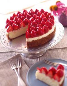 Valentine desserts—better than a date!: Strawberry Cheesecake