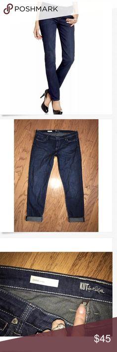 KUT from the Kloth Diana Skinny Jeans 10 EUC! KUT from the Kloth Diana Skinny Dark Jeans! 10 x 32 (un-rolled) Great Used!! Kut from the Kloth Jeans Skinny