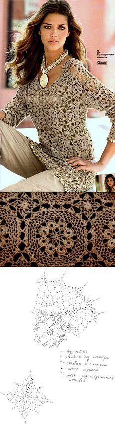 Crochet pullover motif