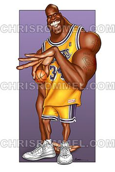 Shaquille O'neal by Exaggerated Entertainment Caricatures by Chris Rommel