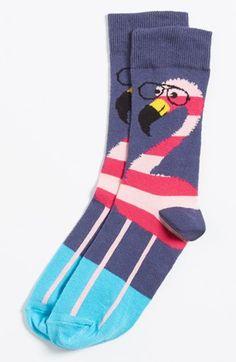 Topman Flamingo Socks available at #Nordstrom