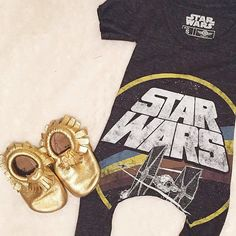 Upcycled t shirt romper star wars / baby by HiggyBabyDesigns